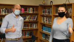 Ms Inzalaco and Mr Noyes at The Glenholme School